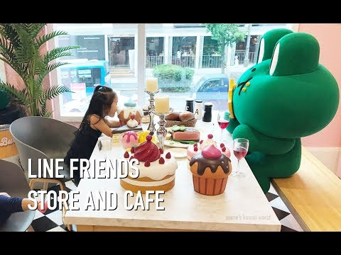 🍰☕😋LINE Friends Store And Cafe in Itaewon Seoul, Korea
