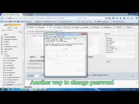 how to change Wordpress password from mysql database