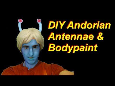DIY Star Trek Andorian Antennae and Homemade Body Paint