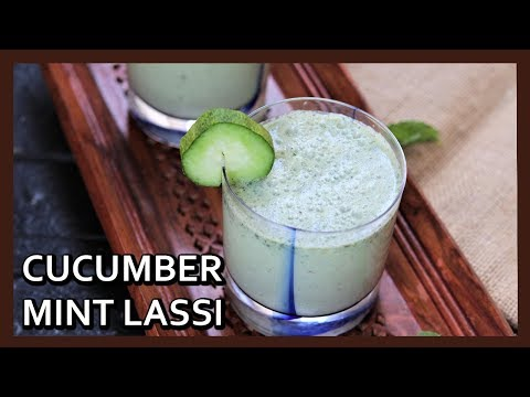 Cucumber Mint Lassi Recipe | Cucumber Cooler | Summer Drink | Healthy Kadai