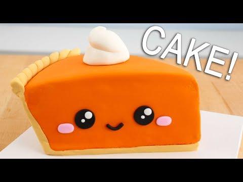 CUTEST Thanksgiving Pumpkin Pie CAKE!! 😍