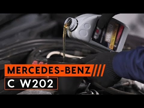 How to replace engine oil and oil filter MERCEDES BENZ C W202 TUTORIAL AUTODOC
