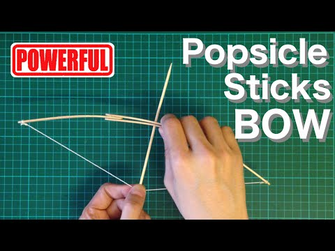 How to make mini bow and arrow with Popsicle Sticks