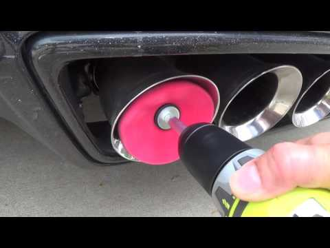 Cleaning C7 Exhaust Tips