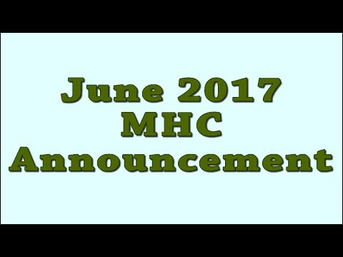 June 2017 MHC Announcement