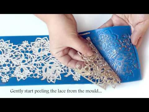 TUTORIAL: How to make perfect edible lace for cakes
