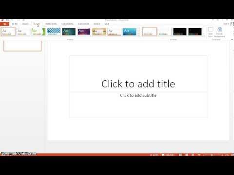 Office 2013 Office 365 PowerPoint Tutorial - Set 4:3 Aspect Ratio