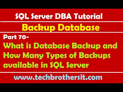 SQL Server DBA Tutorial 70-What is Database Backup & How Many Types of Backups available