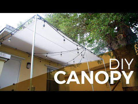 How to install a Canopy with Regular and Electrical Fittings - DIY