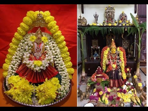 Simple and Easy Varamahalakshmi Vratham Pooja decoration
