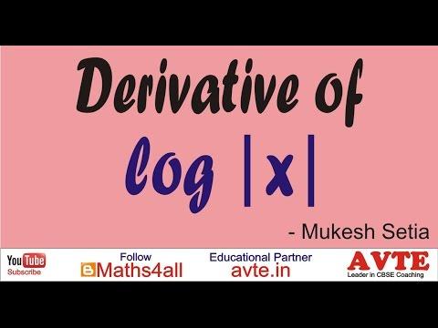 DERIVATIVE OF LOG MOD X