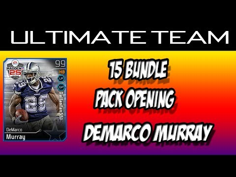 Madden 25: mut 15 Bundle Pack Opening DeMarco Murray, Troy Aikman