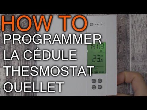 Comment programmé les thermostat Ouellet