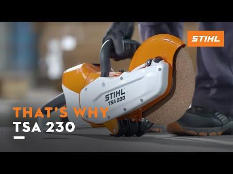 The STIHL TSA 230 cordless cut-off machine