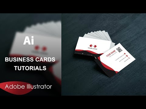 How To Create A Simple Business Cards With Adobe Illustrator #FreeDownload