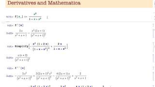Derivatives and Mathematica
