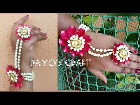 Easy Flower Jewellery making- Bracelet