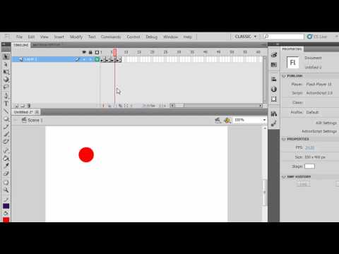 The Flash CS5 Timeline, Keyframes and Frames for Beginners -Part 1