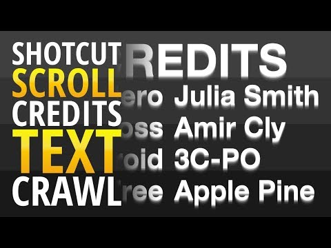 Scrolling Credits made in Shotcut Free, Open Source Video Editor