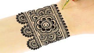 नवरात्रि के लिए शुभ मंडल आकार मेहंदी लगायें | Mandala Mehndi Designs for Hands #73