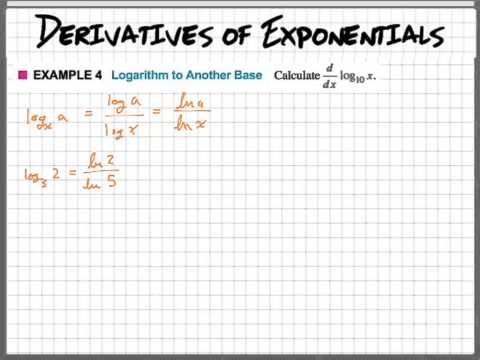 Derivative of log using change of base