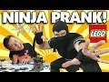 NINJA DAD SCARES EVAN!!! LEGO Ninjago City Build Prank GONE SCARY!