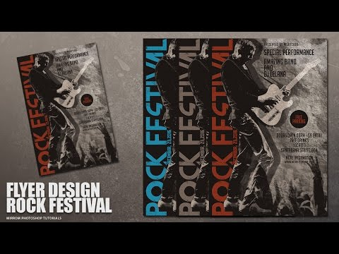 Create a Concert Flyer Design With Grunge Style In Photoshop
