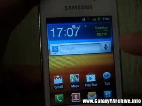 Samsung Galaxy Pocket's Accuweather widget on Galaxy Y