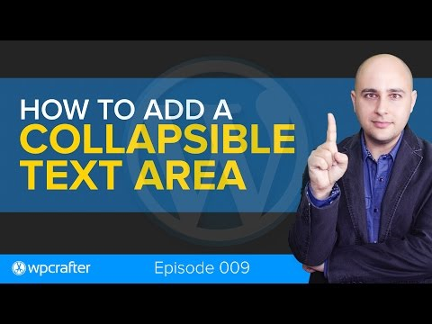 How-to Add A Collapsible Text Area In WordPress