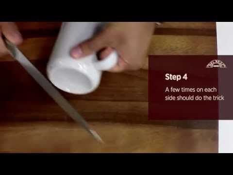 How to Sharpen a Knife wtih a Mug