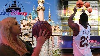 Girlfriend Beat Me At Disneyland Basketball Shootout! Embarrasing!