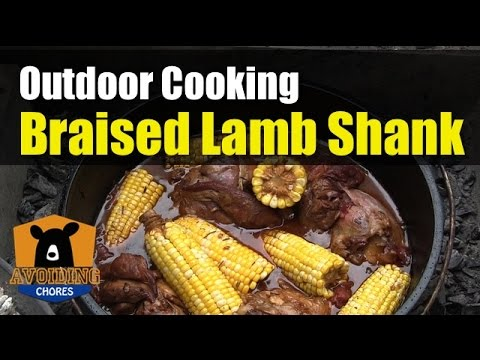 Recipe For Lamb Shanks In A Cast Iron Dutch Oven Outdoor Cooking Camping