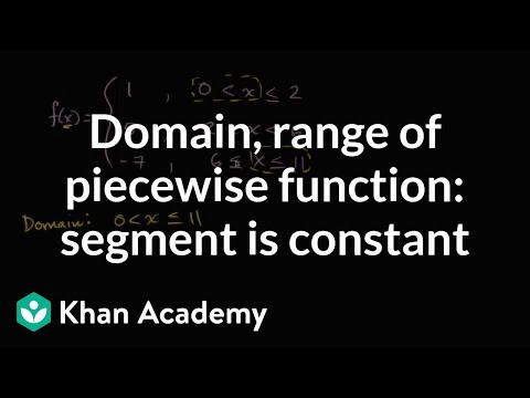 How to find the domain and range of a piecewise function | Functions | Algebra I | Khan Academy