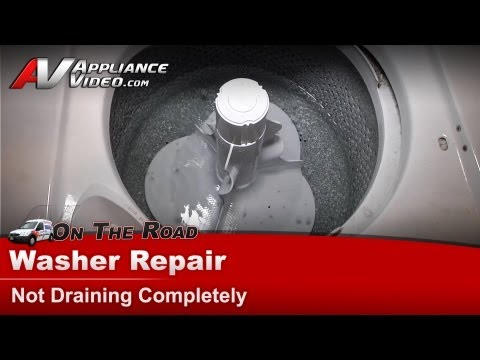 Whirlpool Washer Repair - Not Draining after spin cycle  - Drain hose & Pump  LA6800XPW1