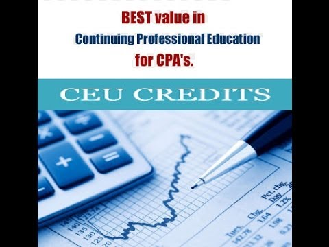 CEU Continuing Education Credits for CPA's in Cleveland Ohio