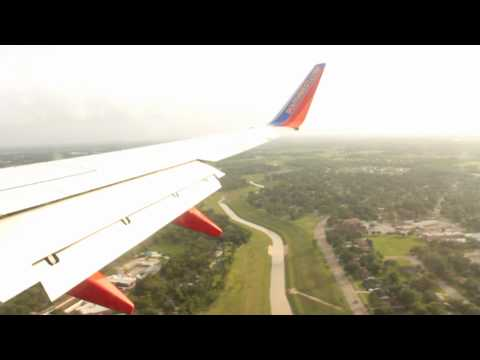 Landing at William P. Hobby Airport in Houston, Texas