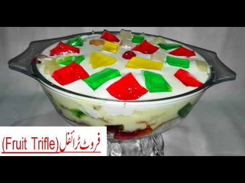 Fruit Trifle - How to make Custard Trifle - An Easy Dessert Recipe