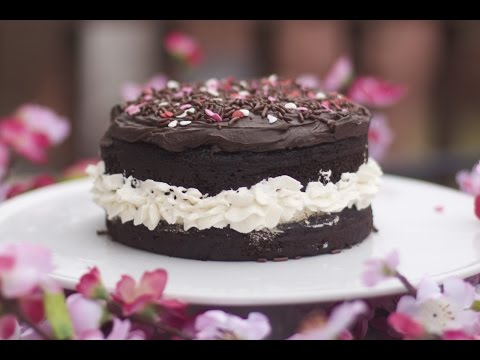 Chocolate Fudge Cake with Whipped Cream Center