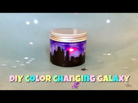 color changing light nebulous galaxy jar tutorial
