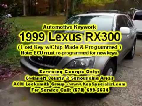 Locksmith in Atlanta GA: 1999 Lexus RX300 - Lost Key Made & ECU Reprogrammed!