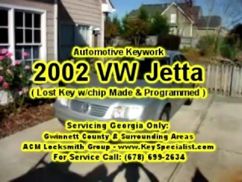 Locksmith Duluth GA: 2002 VW Jetta - Lost Key Made & Programmed!