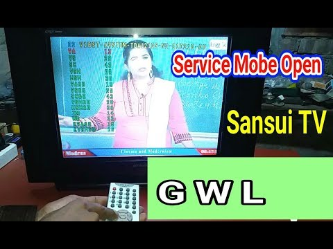 How To Open Service Mode in Crt Sansui TV For All Setting.