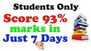 How to Score 93% marks in Just 7 Days | Class 12th Boards | Study Tips - 2017