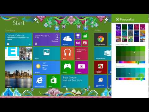 Customize Start Screen in Windows 8.1 with Patterns and Colors.