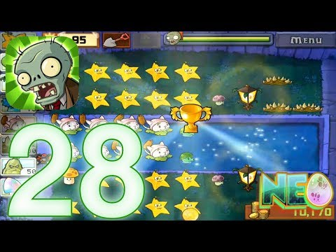 Plants vs. Zombies: Gameplay Walkthrough Part 28 - Survival Mist (iOS Android)