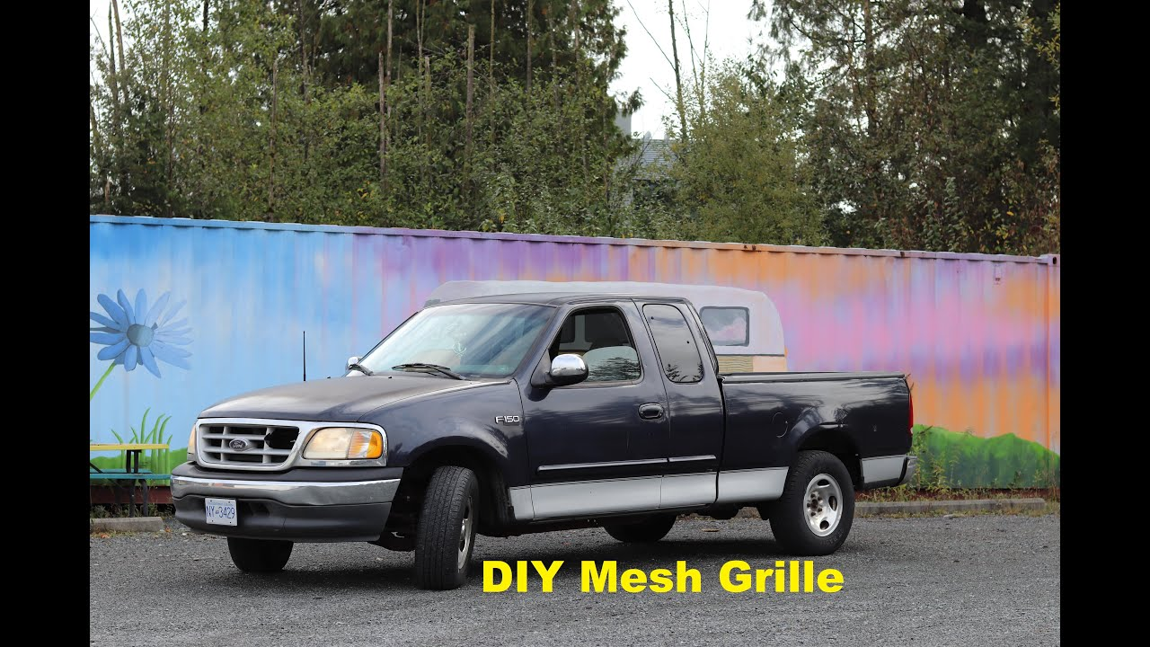 Making a DIY Mesh Grille   Budget Build   1999 Ford F150