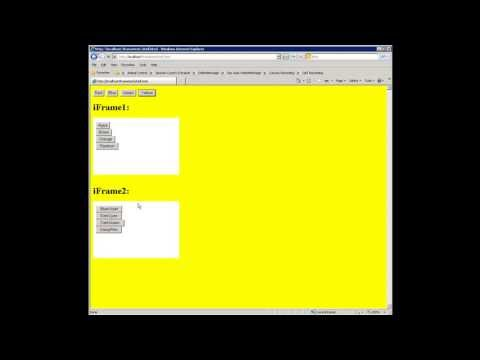 iFrame calling parent HTML's javascript function and cross iFrame interaction