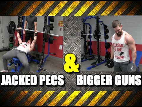 Crazy Chest and Arm Building Workout [Banded Incline Bench Press]