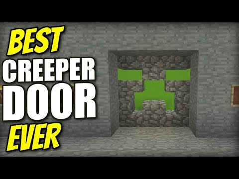 Minecraft Xbox - CREEPER FACE DOOR [ Best Ever ] Redstone Tutorial - PS4 / PE / PS3 / Switch
