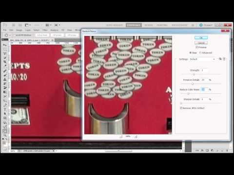 Reduce noise in photo with Photoshop CS5